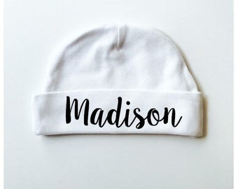 Personalized Baby Hat. Personalized baby beanie. Baby boy hat. Baby girl hat. Hospital baby hat