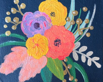 Simone - 3x3 Acrylic on Canvas