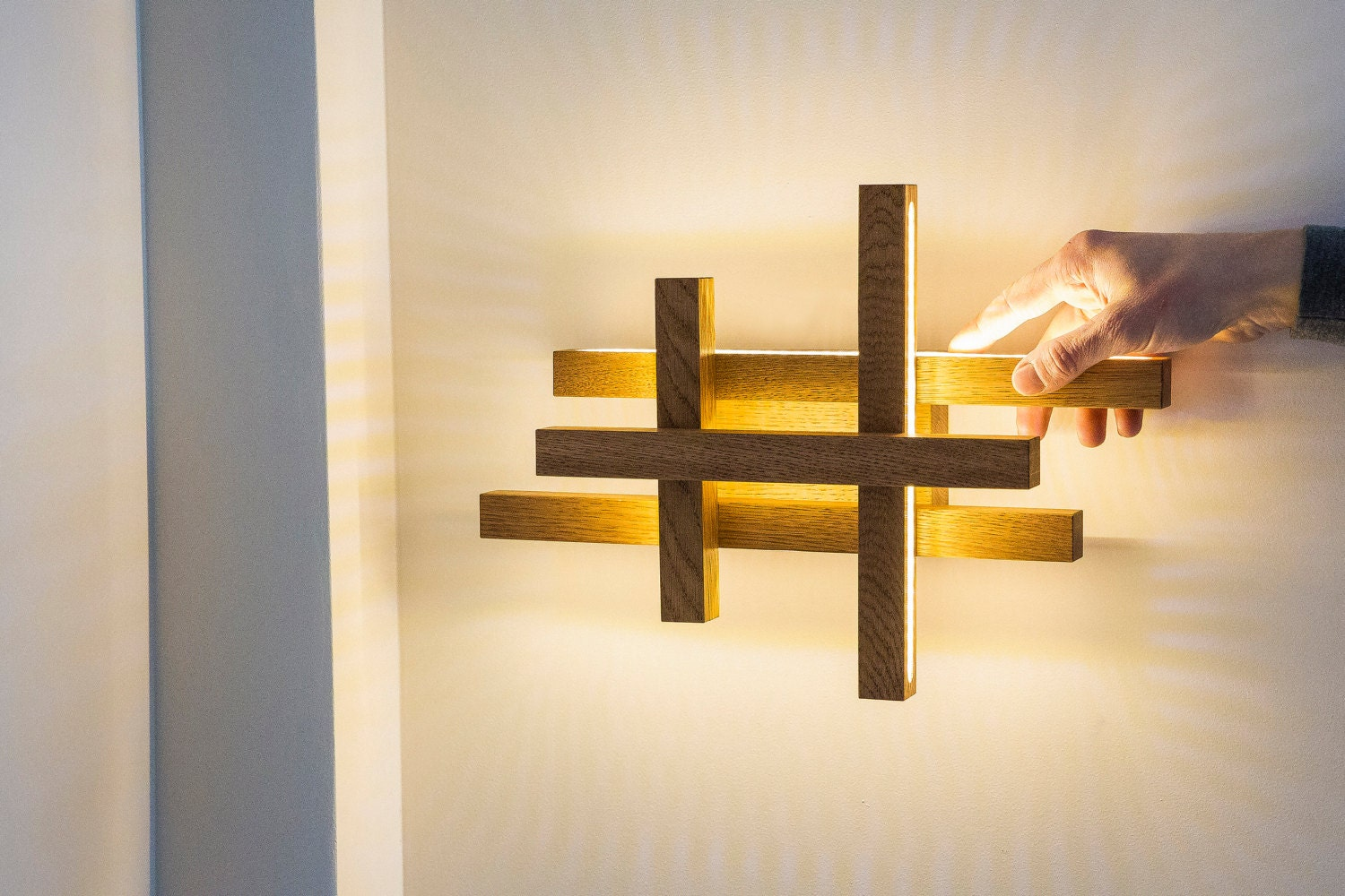 LED wall light -wooden sconce - modern home deco - unique design ...