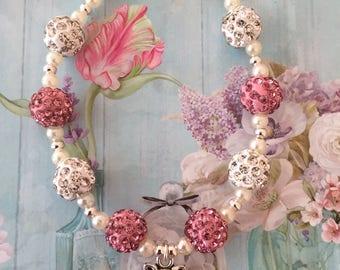 Pig Charm bead bracelet