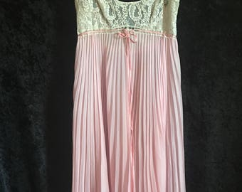 1950's Pale Pink Chiffon Gown