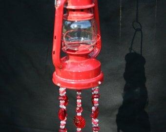 Little Red Lantern Silverware Wind Chime Spoon Chimes Windchime