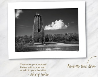 Sugarloaf Key Bat Tower, Lower Sugarloaf Key, Florida. Signed 12x18 Black & White Fine Art Photo Matted to 18x24