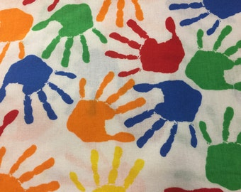 School Valance/ Handprint Valance/ Primary Colors Valance