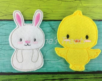 Set of 2 Storybook Finger Puppets - Bunny and Chick