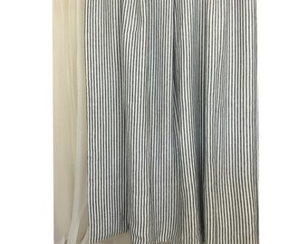 Navy and white striped curtains – Etsy UK
