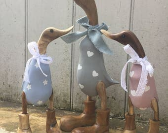 Fathers Day trio set, daddy with two babes. Any colour, any pattern.