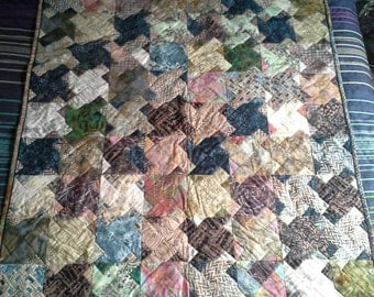 Muted Color Quilt Etsy