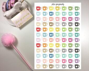 Coffee Mug Stickers - Tea Stickers - Coffee Stickers - PG014