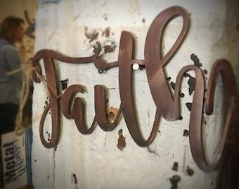 8 or 12 inch *Faith* Metal Wall Sign
