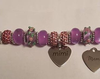 Meme or Mimi Beaded Bracelet
