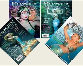 4 Miniature    'MERMAID'   Magazines  -  Dollhouse 1/6    1/12    1/24    1/48    play scale miniature accessory