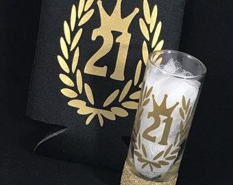 21st Birthday Shot Glass - Custom Shot Glass - 21st Birthday Shot Glass - 30th Birthday Shot Glass - Personalized Shot Glass