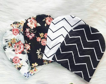 Baby Beanies by Solchan // boy beanie girl beanie baby beanies floral beanie flower beanie black white monochrome solchan slouch beanies