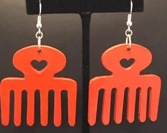 Orange Duafe Earrings
