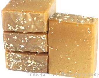 Goat Milk Soap Oatmeal Soap Unscented Soap All Natural Soap Goatsmilk Soap Homemade Soap Raw Honey Soap Goat Milk Oatmeal Honey