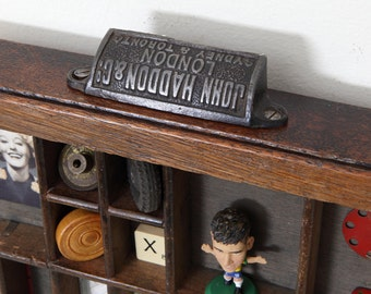 Small Vintage Wooden Printers Tray Letterpress Type Case Drawer Artwork & Collectables