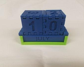 3D Printed Desktop Calendar