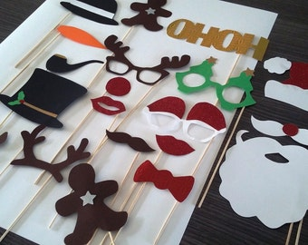 Photobooth x 20 Christmas accessories