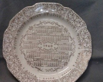 1960 Calendar Plate