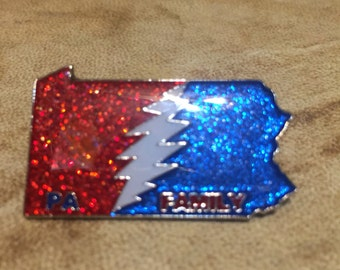 Pa family glitter/glow hat pin
