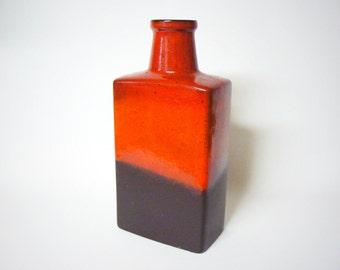 West germany Seventies Rectangular Fat Lava Scheurich vase 281-30