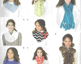 Assorted Coloful Scarves, One Size,  New Simplicity Pattern 1235