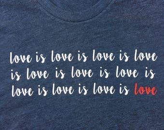 Love is love love shirt | Inspirational black tshirt | LGBT quote | Love is love gay pride | Valenitnes Day gift