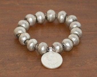 Ethiopian Ball shape beads and Haile Selassie Bracelet