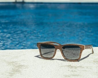 Sunglasses Wooden, Wayfarer Shape Wooden Eyewear, Polarized Man Woman Sunnies   Handmade