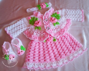 Crochet patterns, Baby Crochet patterns, Crochet Baby dress Patterns, baby dresses, Baby shower dresses pattern, baby girl dress, Baby dress
