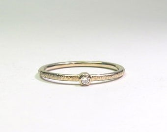 YELLOW GOLD engagement ring with 2.25 Brillliant - champagne
