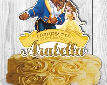 Beauty and the Beast Cake Topper, Princess Belle Cake Topper, Princess Belle Centerpiece, Beauty and Beast Centerpiece, DIGITAL FILE