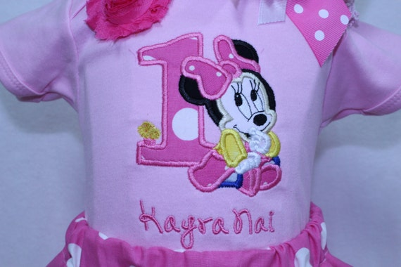cd223515e DollyWolly Quilting and Sewing,LLC. 0. Baby Minnie first birthday outfit,  Baby Minnie Mouse 1st ...