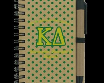 Kappa Delta Sorority Notepad | KD Letters | Kappa Delta Colors | KD Symbols | Sorority Letters | Sorority Merchandise | Greek Gear