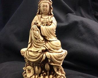 Quan Yin, Goddess Of Compassion Statue Figurine Knickknack Decor