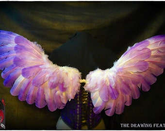 Feathers Wings White and Lilla gradient