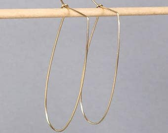 Gold earrings U open hoops statement earrings, unique bridesmaid earrings minimalist earrings, simple jewelry, jewellry, delicate earrings