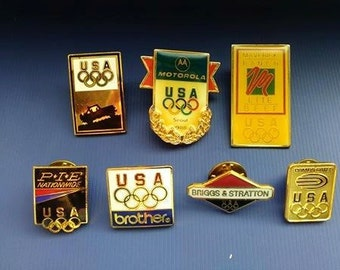 USA Olympics Vintage Enamel Original Badges Olympic Games Souvenirs