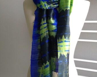 Sharp Blue Green scarf, 131