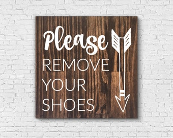 Remove Shoes Sign Etsy