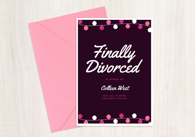 Divorce Party Invitation Printable 5x7 Custom Divorce