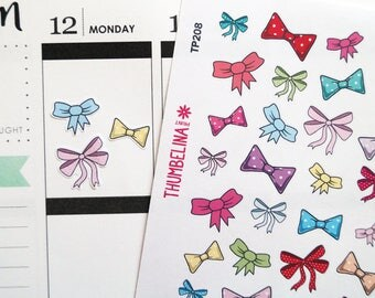 Bow Planner Stickers for Erin Condren, Kikki K, Happy Planner and more (TP208)