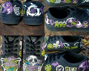 Men's AFI Hand Painted Sneakers
