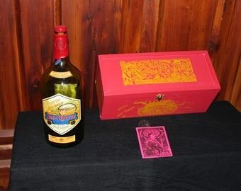 Mexican Tequila Hand Painted Box by internationally known Atremio Rodriguez for Jose Cuervo Riserva De La Familia