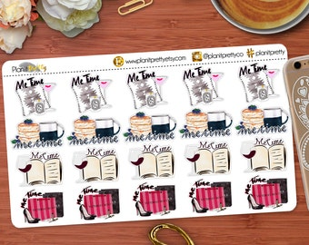 Me Time Stickers 20 count Perfect for your Erin Condren Life Planner