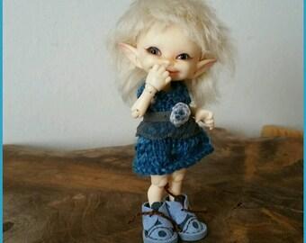 Little blue dress for Realpuki size bjd dolls