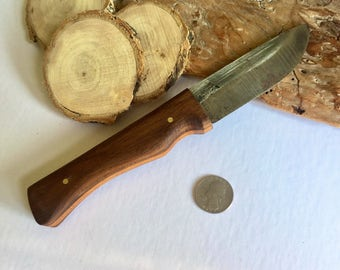 Hand made bushcraft knife