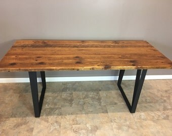 Barn wood dining table, modern legs, reclaimed,renewed