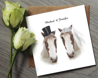 Horse Invitations - Funny Wedding Invitations - Wedding Invitation - Wedding invitations UK - Wedding Invitation set - Personalised Wedding